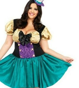 TORRID size 3 Mad Hatter w/hat costume